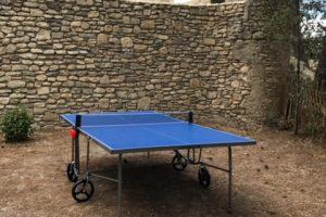 La tablede ping pong