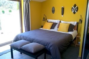 La suite jaune avec terrasse à l'étage