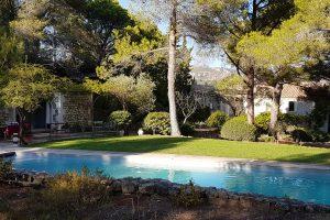 location maison prestige piscine baux provence alpilles