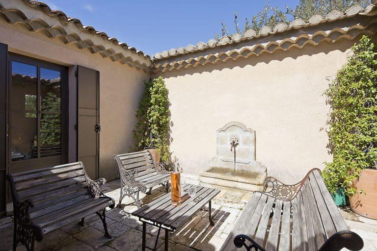 location villa st rémy patio