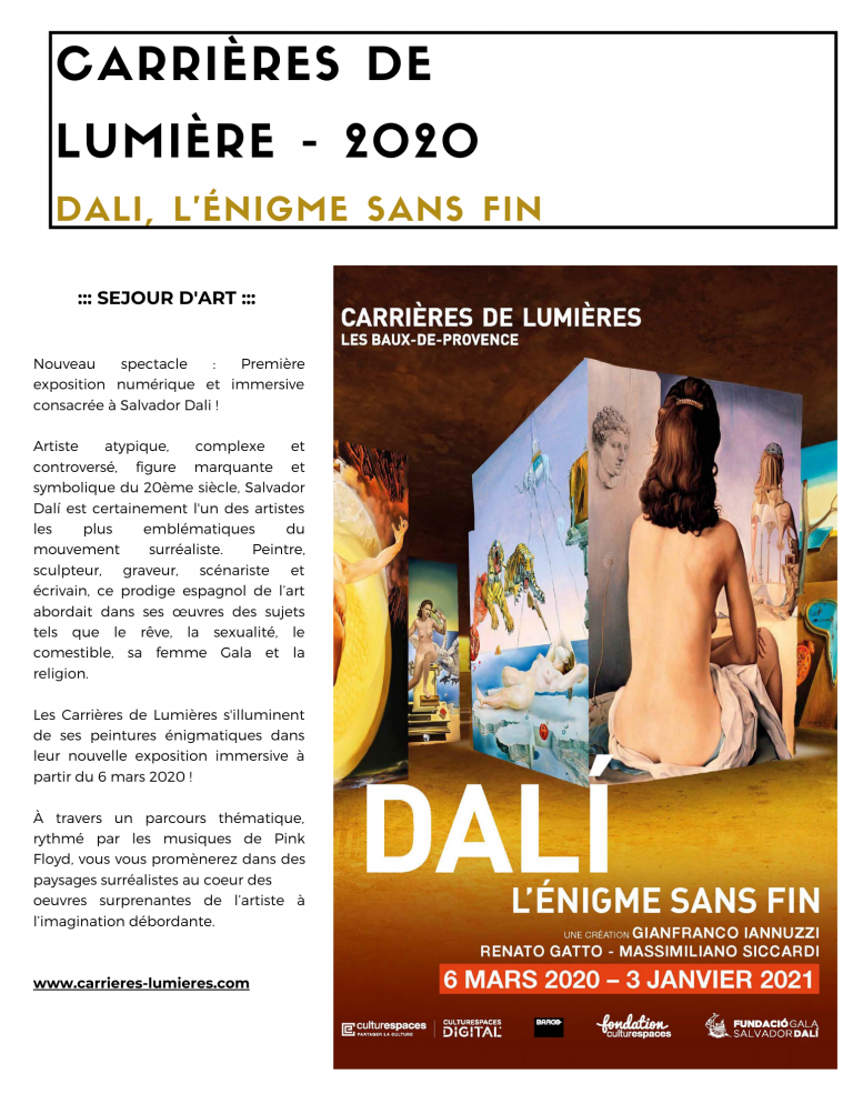 carrieres lumieres baux provence dali